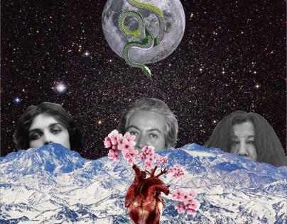 Poetisas - Collage digital