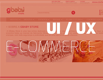 GBaby store new layout (páginas institucionais)