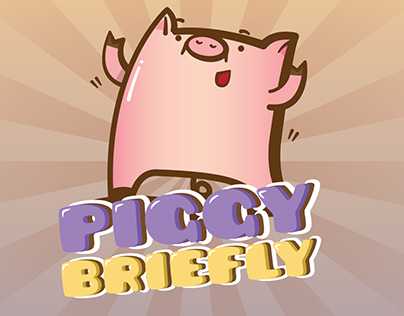 #Linecreatorsticker : Piggy Briefly