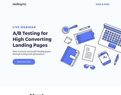 Landing Page Project / Webinar Promo 01