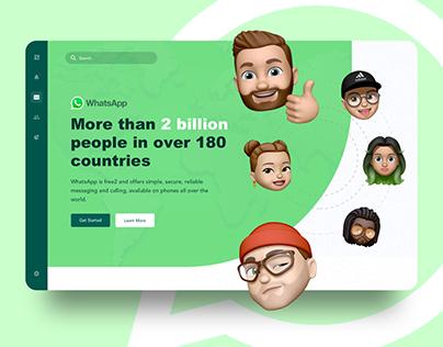 WhatsApp Concept Web Design