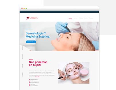 Website Clínica Cliderm