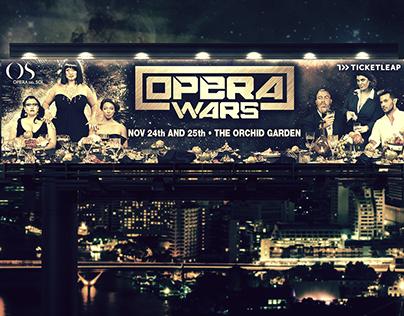 Billboards e poster per l'opera teatrale Opera Wars