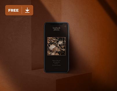 iPhone in Dark Mode Mockup Freebie