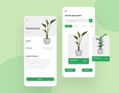 Online Plant Store App Design