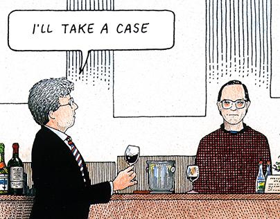 S.F. PACIFIC WINE COMPANY Wine Cartoons