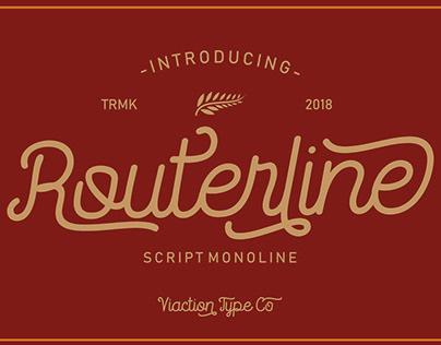 Routerline - FREE FONT