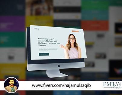 Modern Homepage Layout Developed in WordPress By RedX
