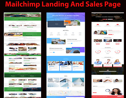 mailchimp lead collecting landing page