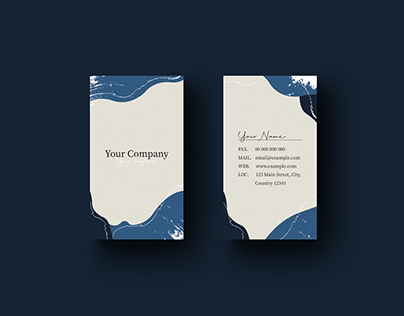 Vertical Pattern Business Card