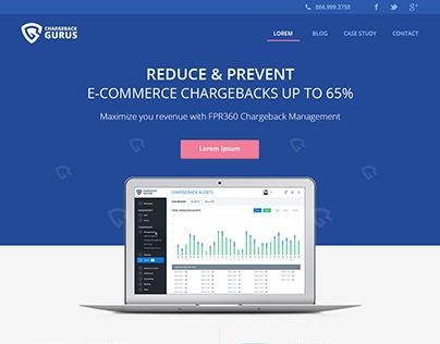 Chargeback Guru's Website Design.
