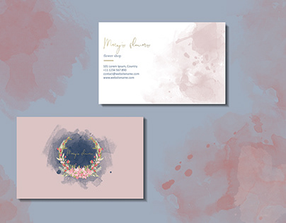 Business cards template for a flower shop.