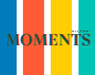 Branding project for HILTON: MOMENTS