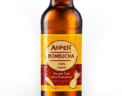 "Label Design ""Aspen Kombucha"""