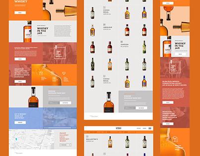Whisky website concept