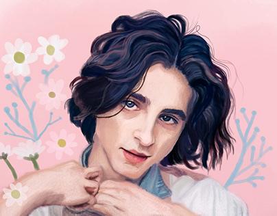 Timothée Chalamet's portrait