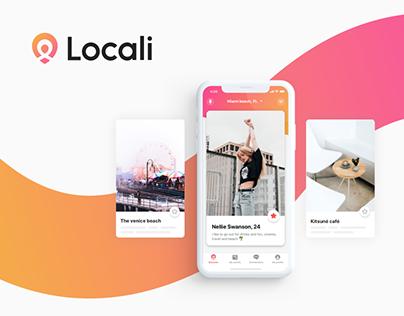 Locali // iOS app, website and new logo