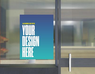 Shop Windows Poster Mockup