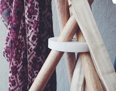 'Nara' clothes hanger
