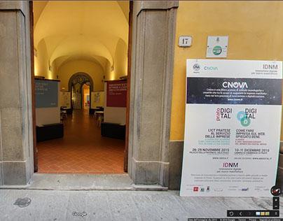 Virtual tour Google Street View. Prato Digital CNova.