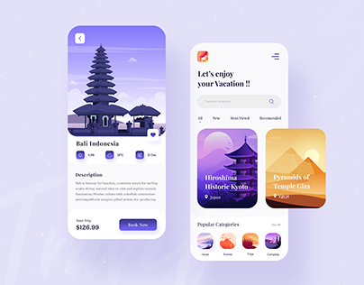 Travel Service - App Design ✈