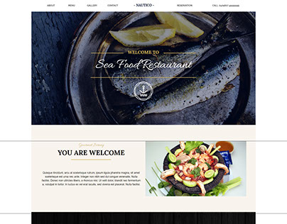 Restaurant One Page Muse Template