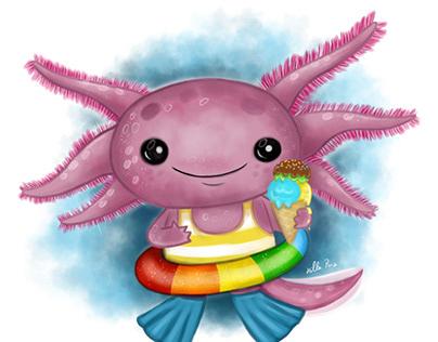 Axolotl on The Beach