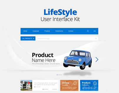 LifeStyle UI Kit