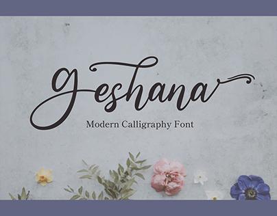Geshana – Wedding Font