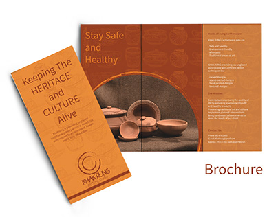 Brochure for KHAK RUNG earthenware pottery