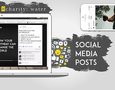 charity: water - social media posts