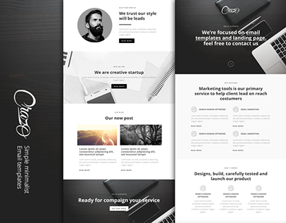 Crasho - Twin Email templates and landing page