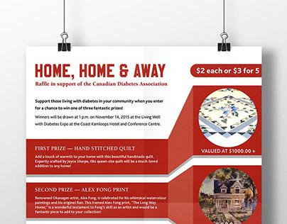 CDA Home, Home & Away poster design