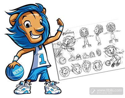 Hercules the lion / Cartoon Mascot Character.