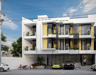 Three Storey Roof Deck Commercial Building
