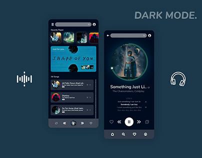 Music App - Dark Mode
