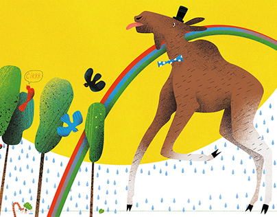 Kids book illustrations. Commissioned by Alma littera.