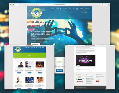 Mountain Kingdom Festival - Website Design