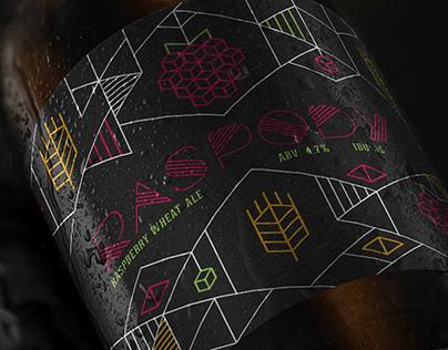 Cromulent Brewing Raspody Beer Packaging