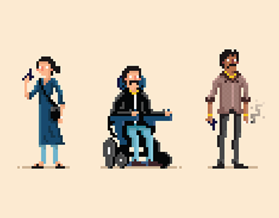 Sacred Games ~ Pixel Art Characters