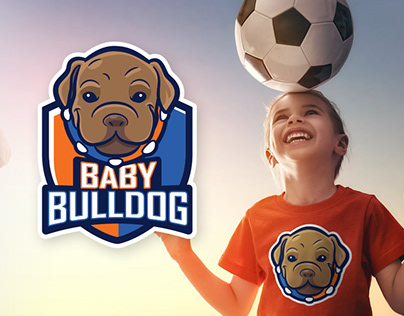 Baby Bulldog — Kids Team Soccer Logo