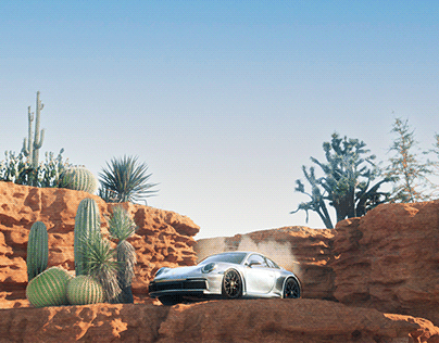 Porche in the canyons