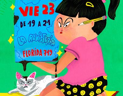 Flyer para expo en La Revistería