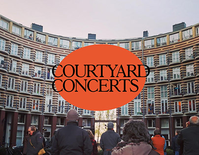 Courtyard Concerts Amsterdam | Visual identity