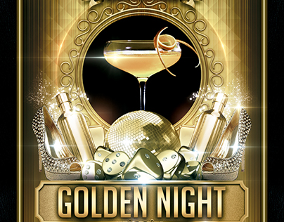 Golden Night (Flyer Template 4x6)
