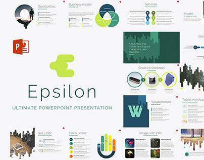 EPSILON   FREE POWERPOINT TEMPLATE