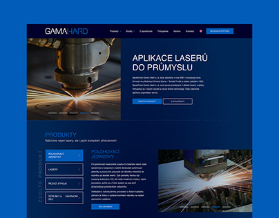 Webdesign - Application lasers in to industry