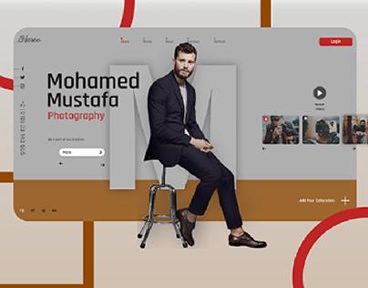 Photography UI Web Design