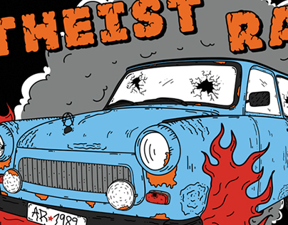 T-shirt design for Atheist Rap