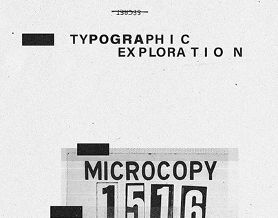 Typographic Exploration: Highly Confidential